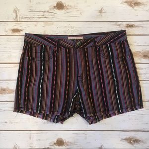 Philosophy tribal  fringe striped  shorts- Size8
